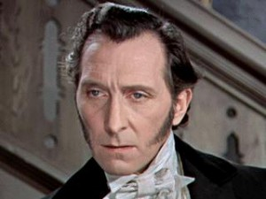 Peter Cushing nesmí chybět - jeho Frankenstein nevypadá až tak moc šíleně.