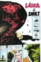 Ukázková strana z komiksu Bažináč: Láska a smrt.