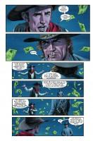 Ukázková strana komiksu Jonah Hex: Tvář plná násilí.
