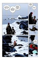 Ukázka z českého vydání šestého dílu komiksu Hellboy: Podivná místa.