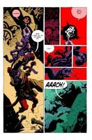 Ukázka z českého vydání sedmého dílu komiksu Hellboy: Pražský upír a další povídky.