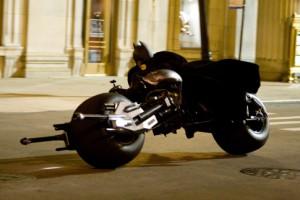 Batman a jeho speciální vozítko - Batpod.