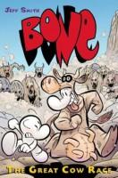 Obálka anglického vydání komiksu Kůstek: Velké kraví závody.