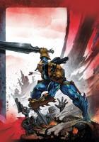 Ukázková kresba z komiksové série Deathstroke.