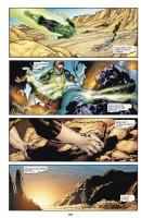 Ukázková strana z českého vydání komiksu Green Lantern: Tajemství původu.