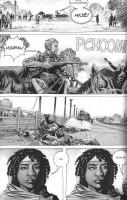 Ukázka z českého vydání komiksu Živí mrtví: Touha je slepá.