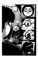 Ukázková stránka amerického grafického románu A Friendly Game.