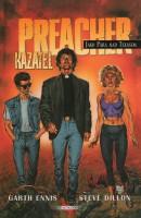 Obálka českého vydání komiksu Preacher: Jako pára nad Texasem.