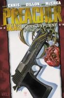 Obálka českého vydání komiksové sbírky Preacher: A pak vypukne peklo.