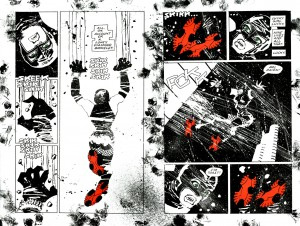 Ukázka z komiksu Holy Terror Franka Millera.