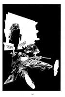 Ukázková strana českého vydání komiksu Sin City: Rodinný hodnoty.