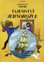 Obálka českého vydání komiksu Dobrodružství Tintina: Tajemství Jednorožce.
