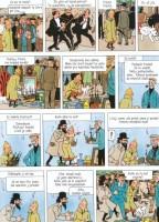 Ukázka z českého vydání komiksu Dobrodružství Tintina: Tajemství Jednorožce.