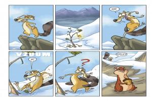 Ukázka z českého vydání komiksu Doba ledová: Ledová dobrodružství 2.