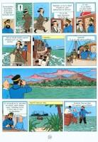 Ukázka z českého vydání komiksu Tintinova dobrodružství: Poklad Rudého Rackhama.
