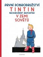 Obálka českého vydání komiksu Tintin v zemi Sovětů.