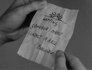 Hitchcock často používal psaný text.