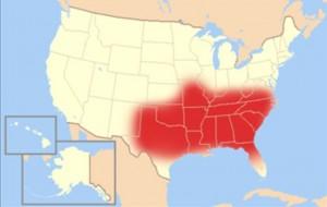 Biblický pás v USA.