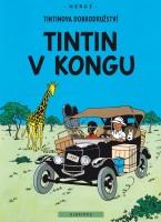 Obálka českého vydání komiksu Tintin v Kongu.