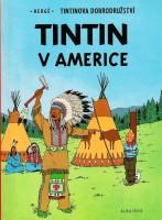 Ukázka z českého vydání komiksu Tintin v Americe.