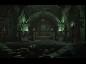 ...opuštěná hrobka s tajemnými vzkazy.