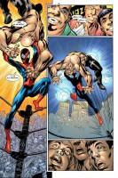 Ukázka z českého vydání komiksu Ultimate Spider-Man: Moc a odpovědnost.