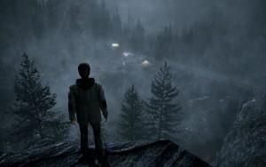 Alan se může zachránit jen tak, že najde cestu z lesa dolů, na osvětlenou benzínku.