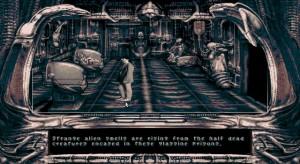 Parádní grafické převedení charakteristických Gigerových obrazů do světa za zrcadlem.