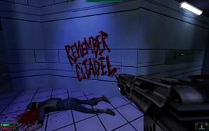 Varování psaná krví... nejedna stopa vede také k hrám typu Dead Space.