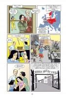 Ukázka z komiksu Anne Franková: Komiksový životopis.
