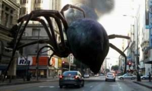 Velký pavouk vždy udělá dojem.