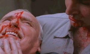 Dennis Hopper s obličejem.