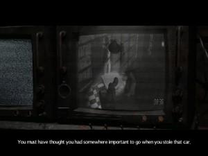 Hrdinovi začne lehce svítat, když narazí na záznamy svých rozhovorů s doktorem Morganem.