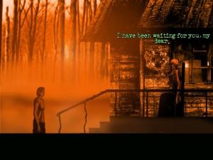 V tajemném lese potkává ženu, jejíž identitu může odhalit jen z různých náznaků.