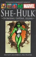 Obálka komiksu She-Hulk: Svobodná, úspěšná, zelená.