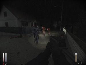 Fešácká švédská policie versus surrealistické potvory, aneb co-op mód.