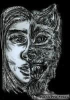 Ilustrace ke knize 66+6 hororů ve sto slovech.