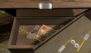 Tajné skříňky a šuplíky k záhadným domům patří.