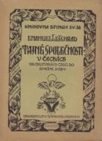 Obálka knihy Tajné společnosti v Čechách.