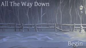 Kouzlo pixel artu - spoustu scén je třeba dotvořit ve vlastní fantazii, jako například sněhovou vánici na úvodní obrazovce.