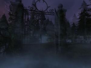 Rumunský hřbitov obklopený horami a hustou mlhou. Přesně takový, jaký byste čekali.