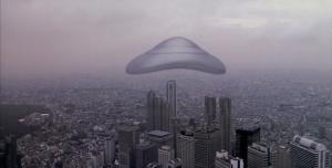 Létající silikon nad Tokiem.