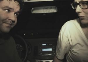 Většinu doby jsme v autě.