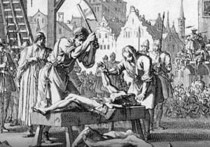 Rozčtvrcení se používalo u žen i mužů.