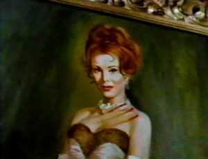 Maminka byla na obraze pěkná.