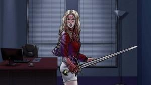 Holka s mečem je taky pořádně cool!